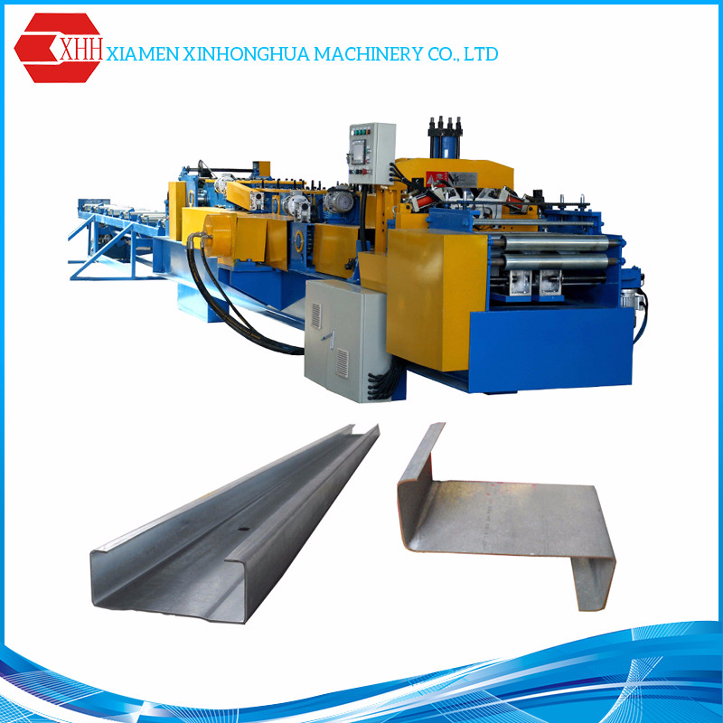 Hydraulic 1.5-3.0mm Thickness c z purlin roll forming machine