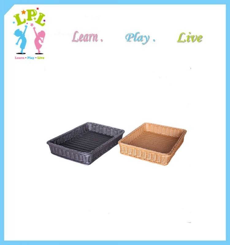 2017 Factory rattan basket fruit basket bread basket wicker basket hamper tray