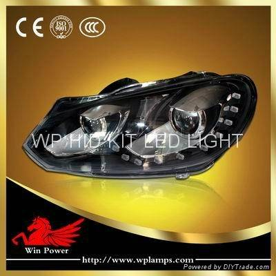 2012 Volkswagen Golf 6 Xenon Headlight with Angel Eye and Bi-xenon Projector