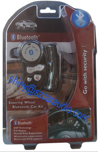 Car Bluetooth Handsfree Steering Wheel Kit, fix on steering wheel with safer