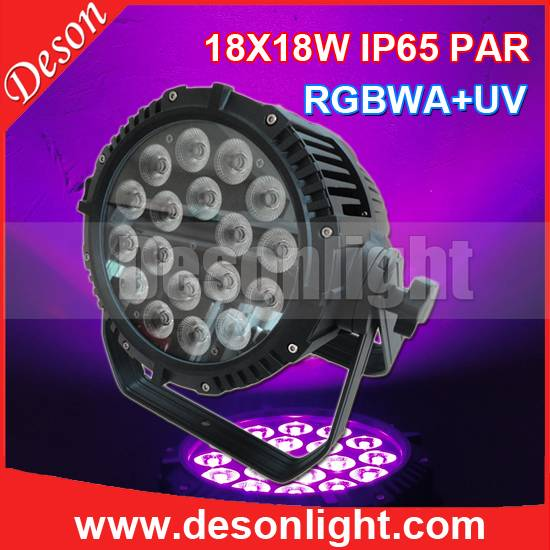 18pcs RGBWA + UA (RGBWAP) 6in1 waterproof ip65 par can LP-1818
