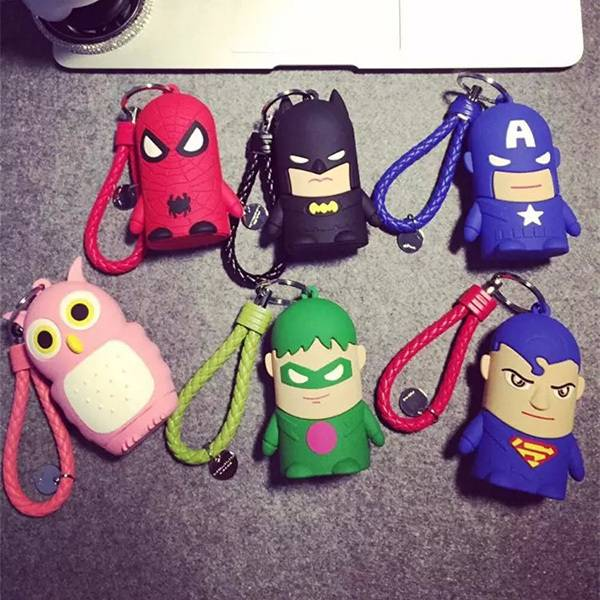 Lastet New Design PVC Cartoon 4400MAh batwan power bank