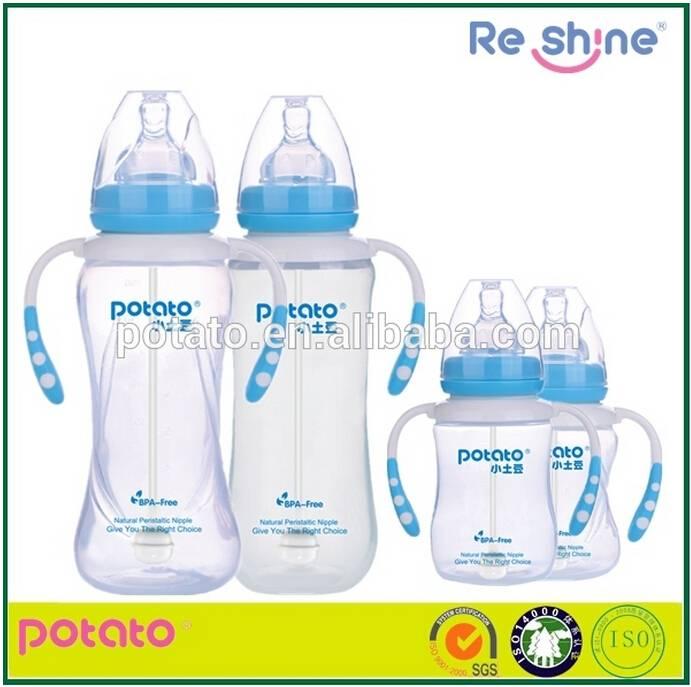 POTATO cute design plastic feeding bottle for baby