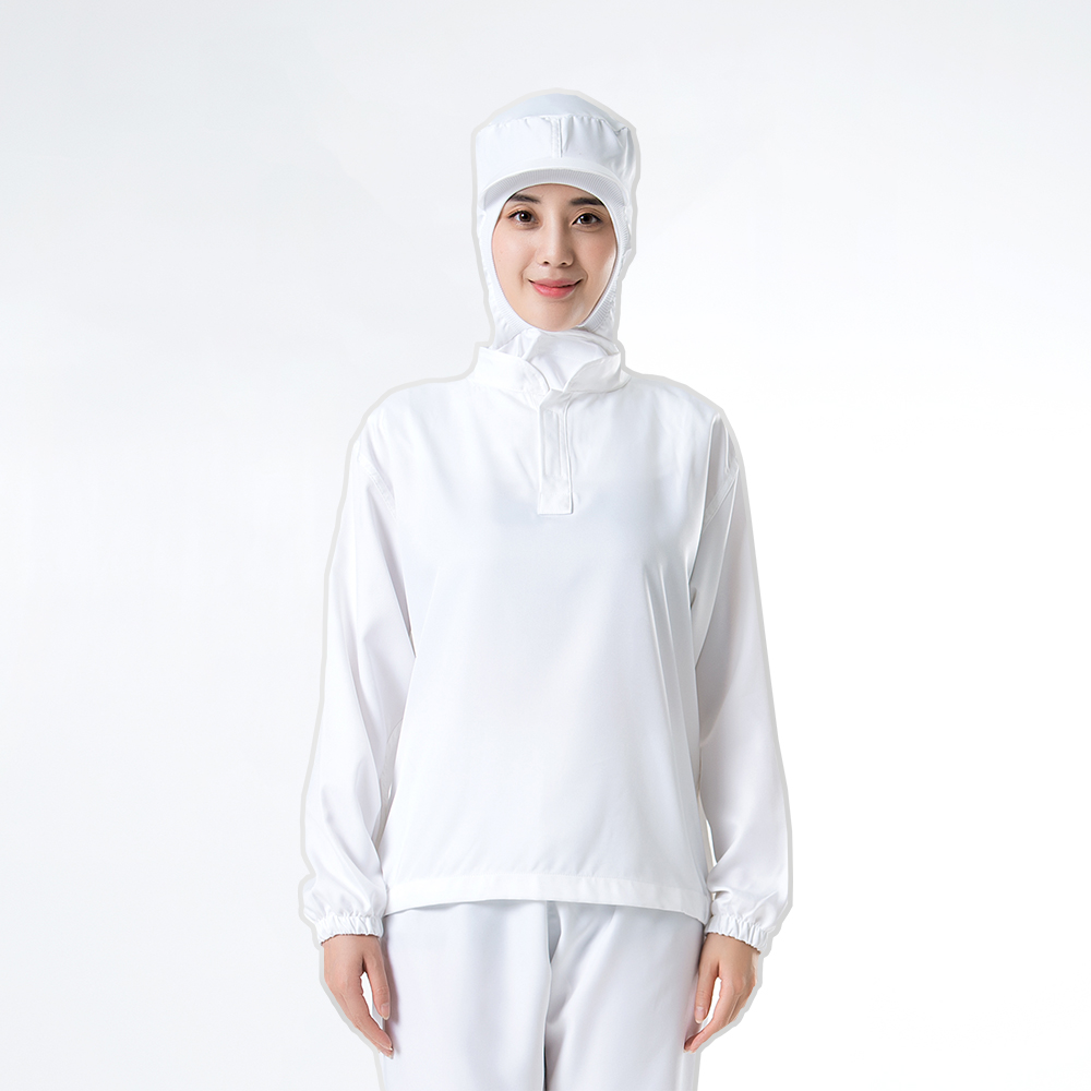 Long Sleeve White 100% polyester Food Processing uniform