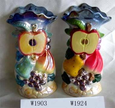 Ceramic plated vase