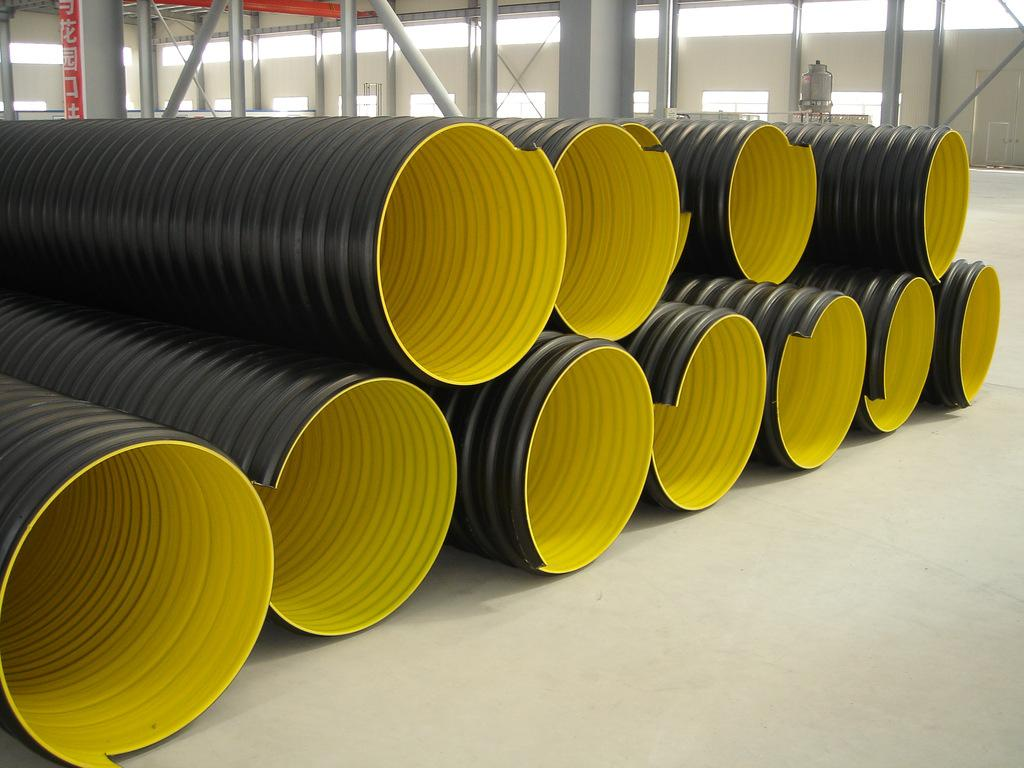 municipal construction sewage disposal steel reinforced polyethylene spiral corrugated pipe