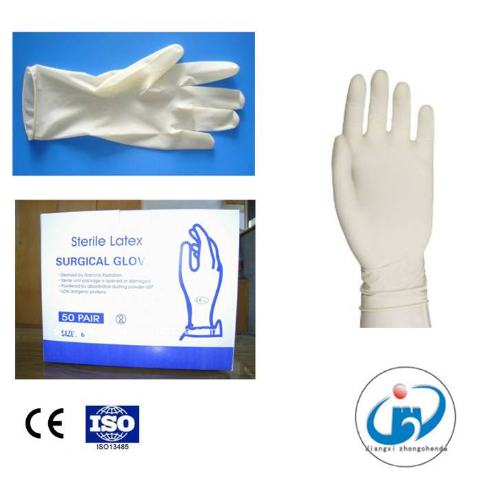 Disposale Powdered or Powder Free Surgical Latex Sterile Gloves