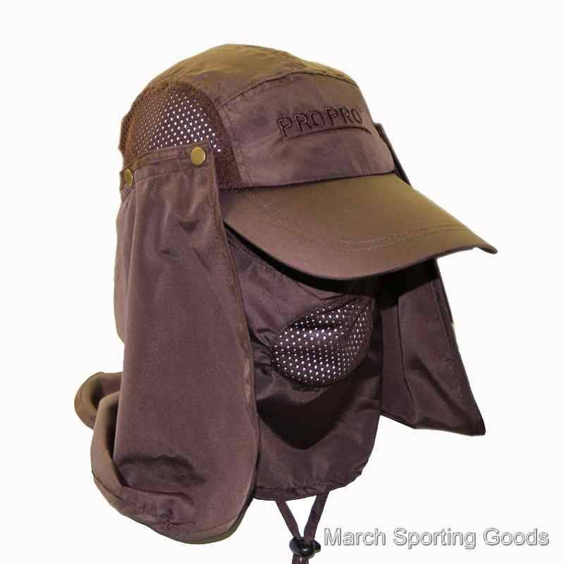 Quick-dry Jungle Cap Removable Face-Neck Flap Hat Sun Protection Sunhat For Hiking Fishing Traveling