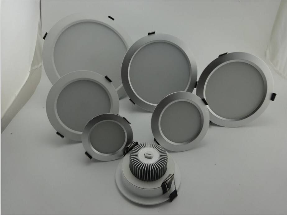 Indoor 9w led round down light smd 5630 led recessed downlight warm white down led spotlight for off