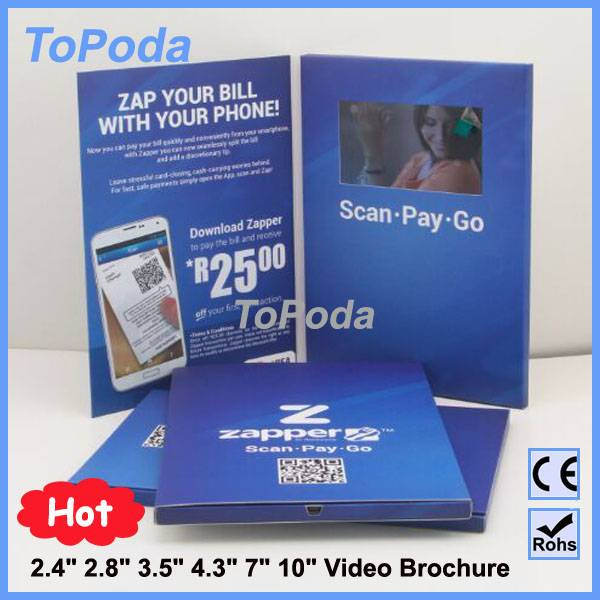 2016 new LCD wedding invitation card,video wedding invitation card