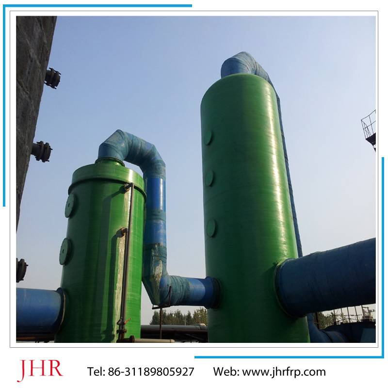 FRP purification tower for acid mist gas