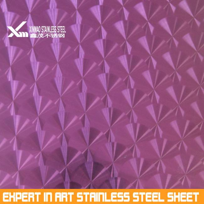 tin-peach red 304 laser polish stainless steel sheet price