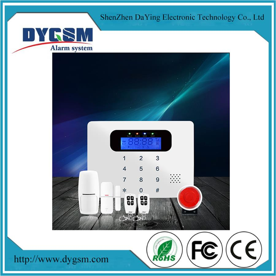 Delicate White Wireless 433Mhz Gsm Home Security Alarm System Panel