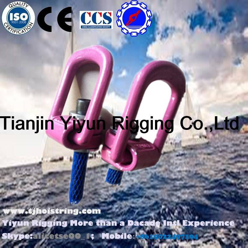 Pink Color G80 Alloy Steel Swivel Type Lifting Hoist Ring
