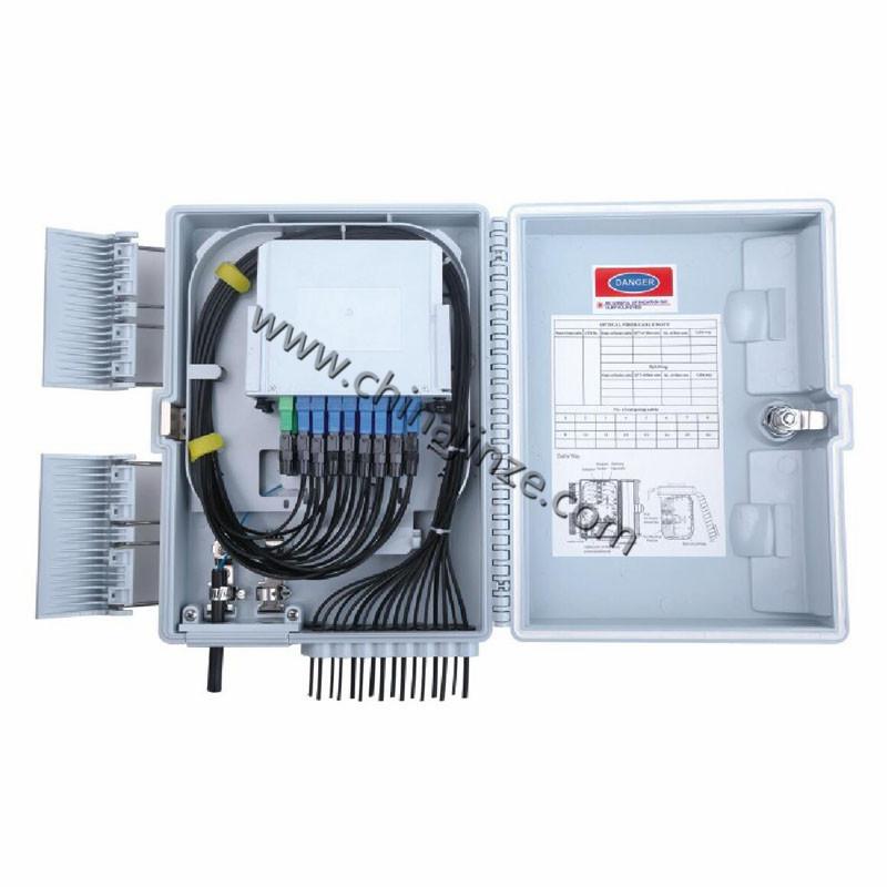 16 core ftth optical fiber distribution box