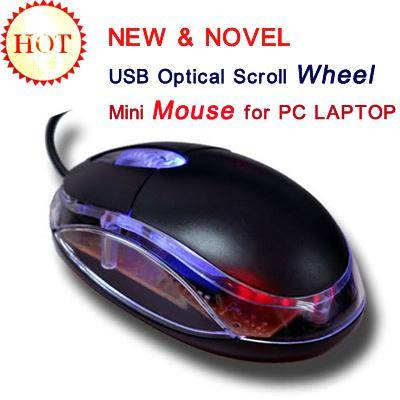 USB Optical Scroll Wheel Mini Mouse for PC LAPTOP