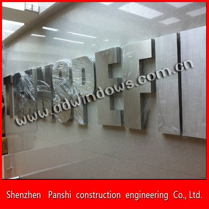 Brushed hollow metal outdoor letter sign made in china