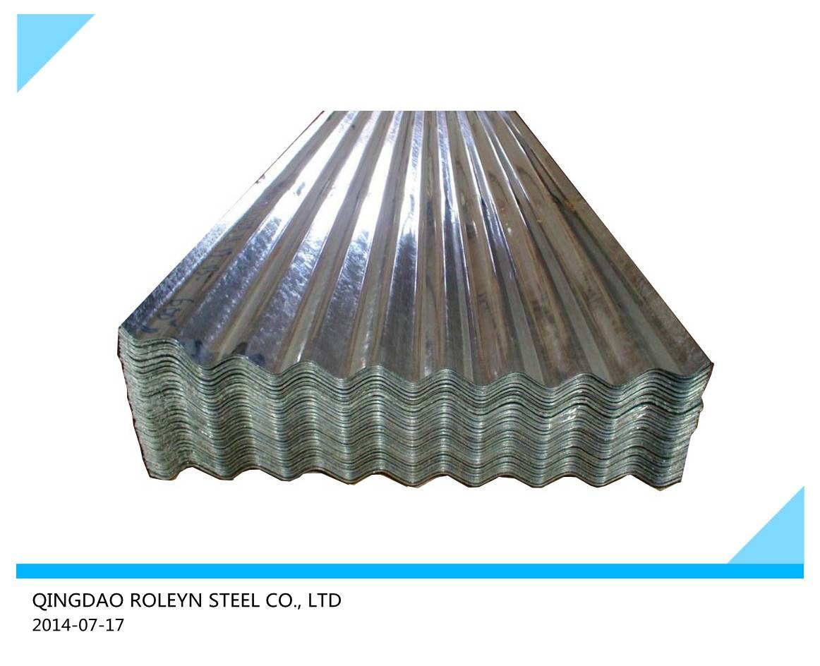 Galvanized corrugated steel sheets SGCH