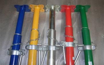 Scaffolding steel props
