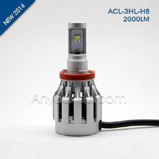 3HL 2000LM H8 LED Light Bulb DC12-24V with CE,RoHS
