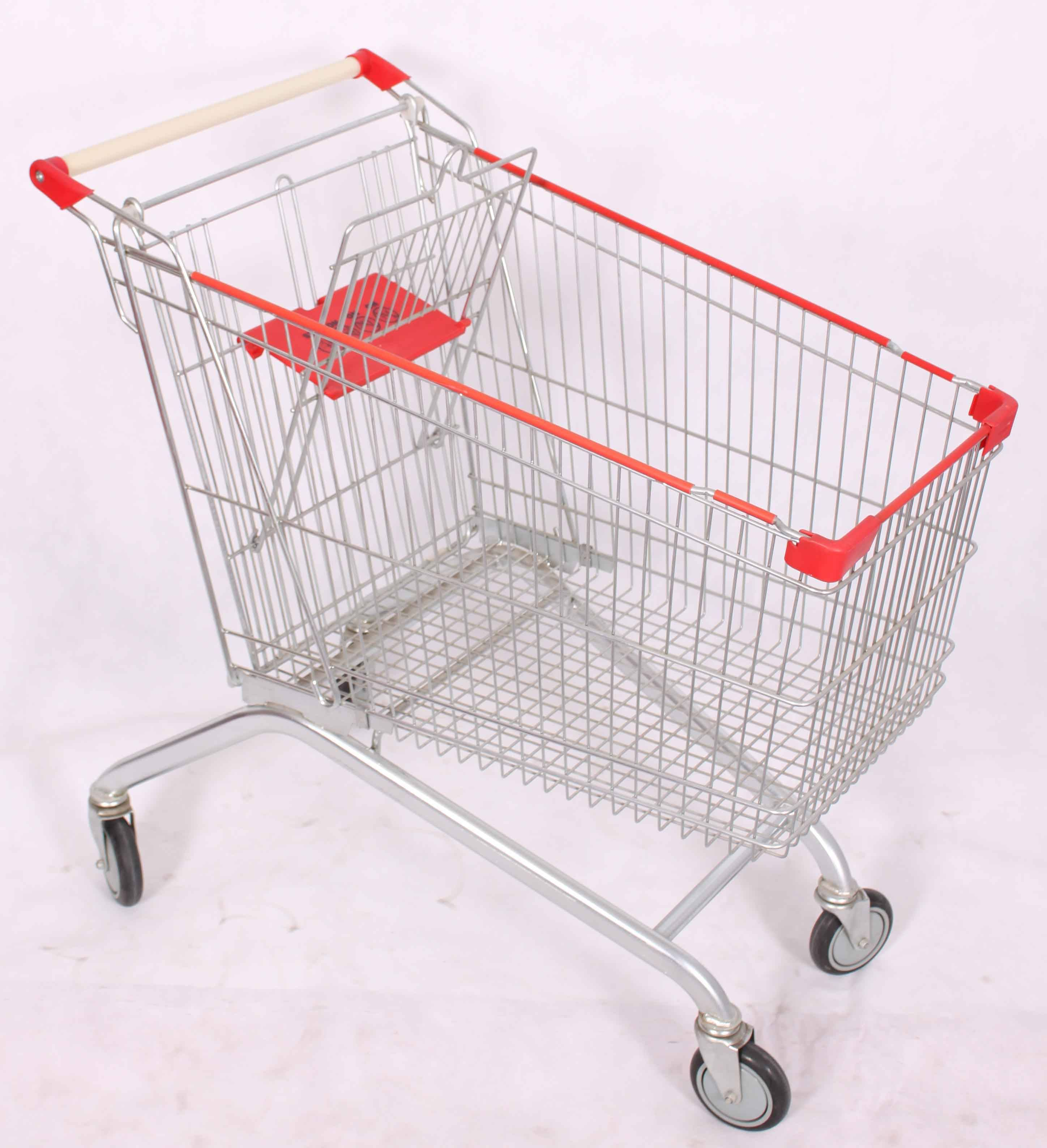 European Style Shopping Trolley 100L