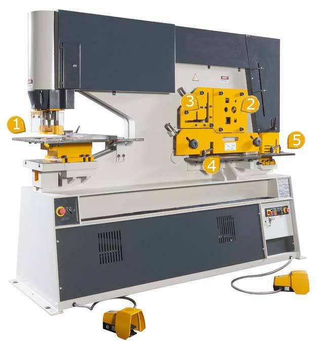 Piranha Ironworker / Hydraulic Combined Punching&Shearing Machine (XP-3)
