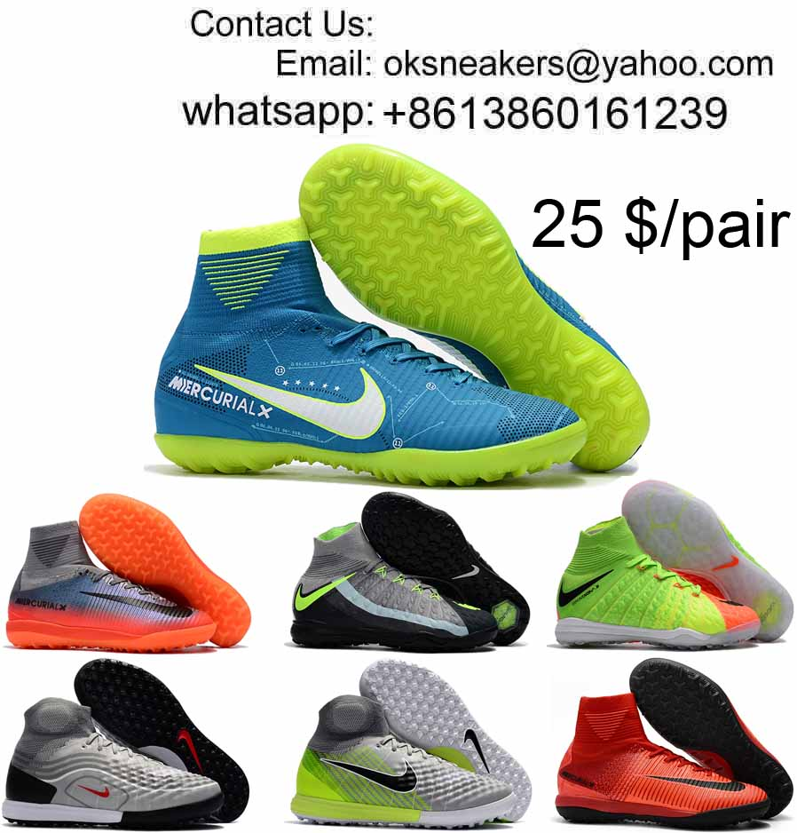 Wholesale Nike Mercurial Superfly Turf Soccer Shoes Society Football Boot magista obra Soccer Cleats