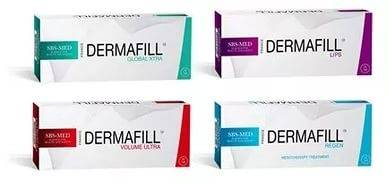 Dermafill filler, DERMAFILL Global Xtra, DERMAFILL Volume Ultra,DERMAFILL Lips, DERMAFILL Regen
