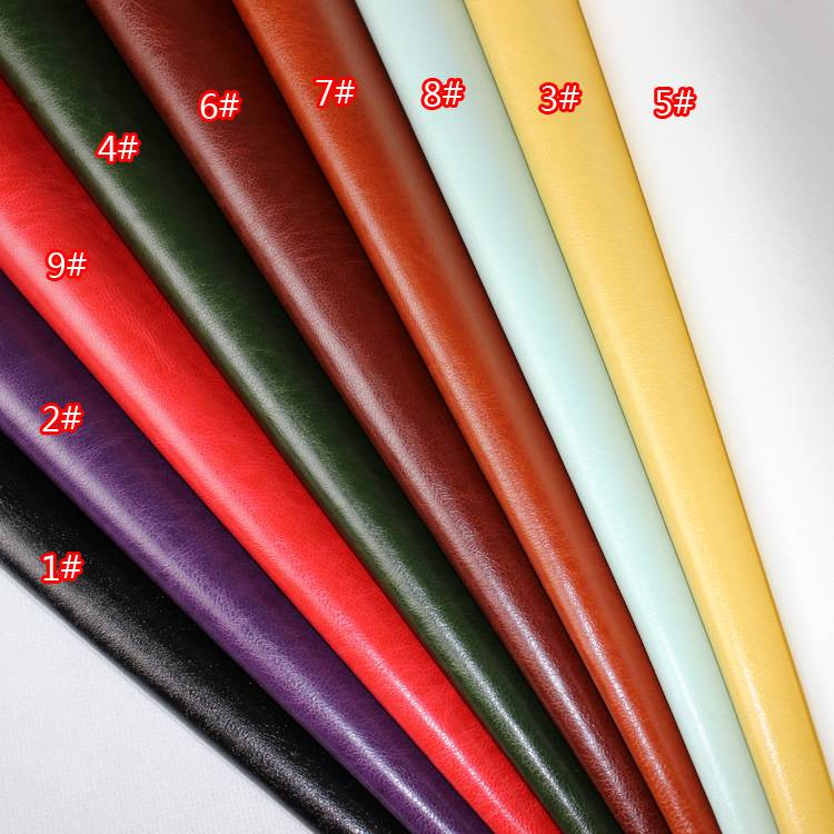 Synthetic PU material for cover leather packing Thermo discolor change color leather POAM UP oily ef