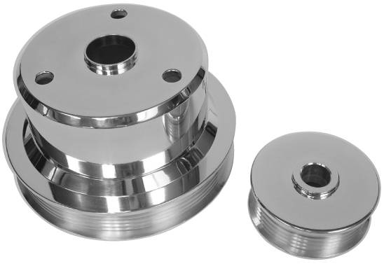 5.7L Chevy Truck, 2-Pc Pulley Set, Long Type