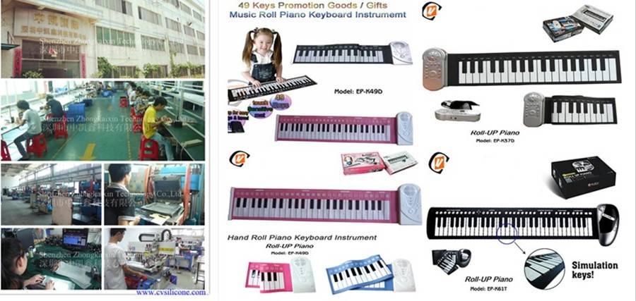 Roll Up Soft Portable Electronic Piano Keyboard 61 keys