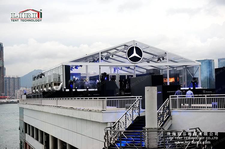 15x40m transparent event tent