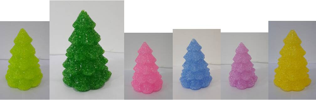 EVA&LED decorative ligts,Colorful Christmas Tree Table Lamp