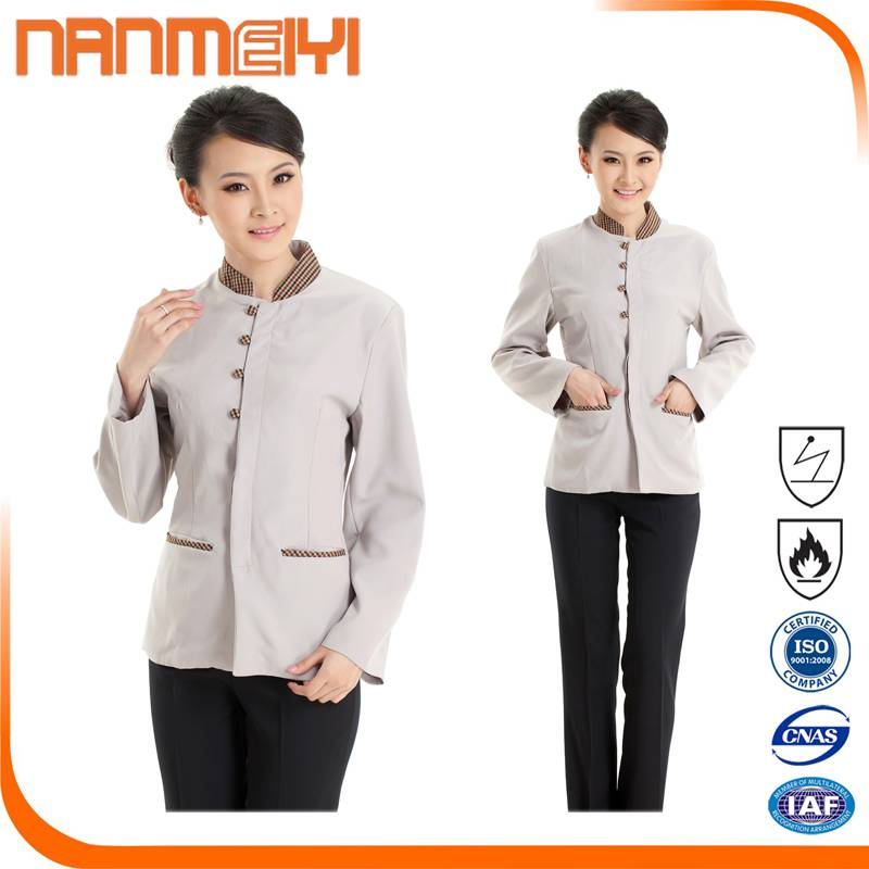 2016 new design cheap hotel staff uniform