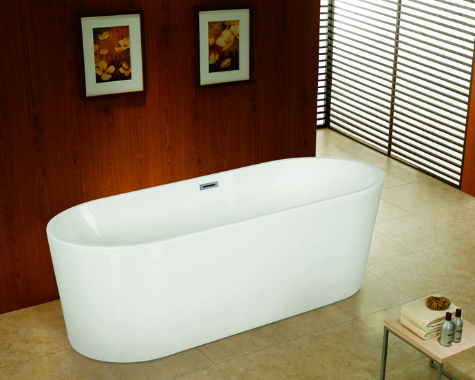 cUPC freestanding acrylic chinese bathtub by seamless joint finish for North America