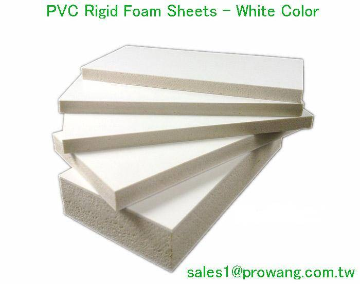 PVC Rigid Foam Sheets - White Color