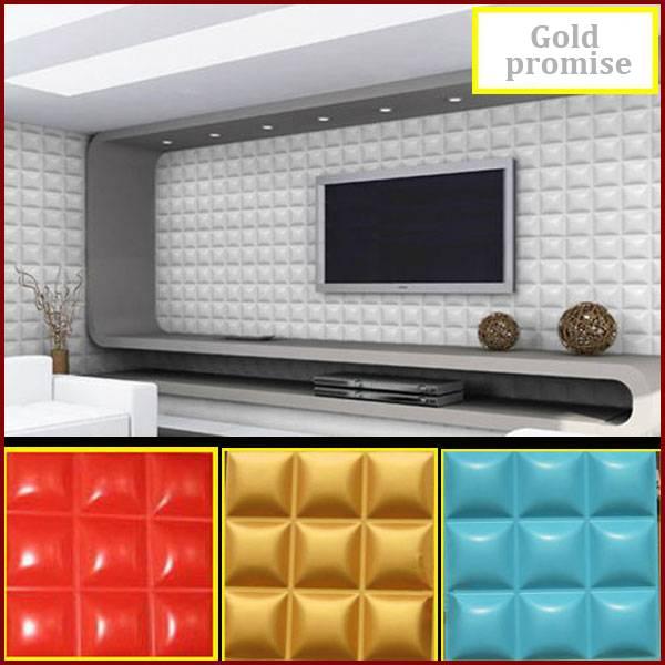 3D decorative glue on wall ceiling panel wallpaper Art wall decor 32 sqf 12 pcs