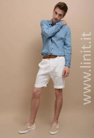 Men's designers shorts 100% linen. Made in Italy