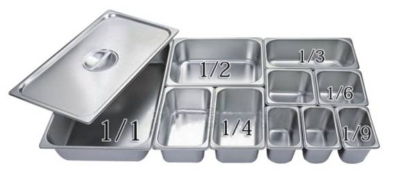 304 stainless steel gastronorm pan/GN container for buffet/oil tank/gn food container wholesale