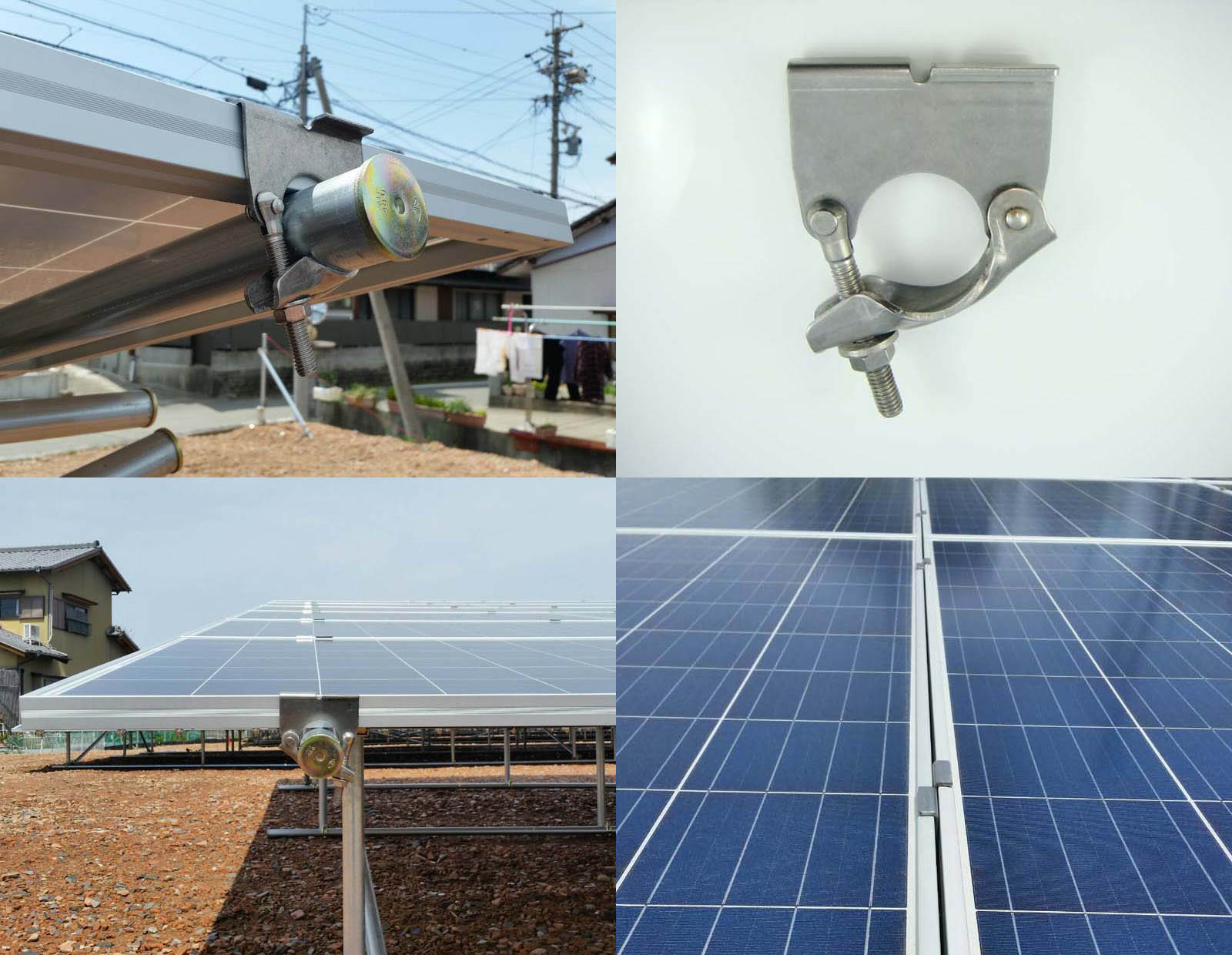 Stainless Steel Solar Ground Bracket Clamp