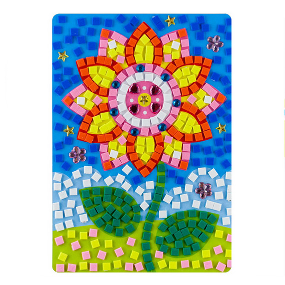 ducational DIY EVA Sunflower Puzzle Sunflower