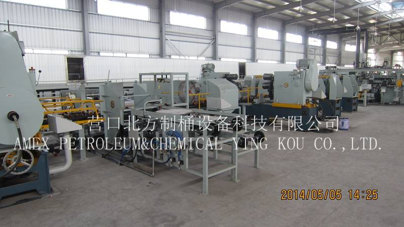 Automatic Steel drum making machine manufacturer 55 gallon or steel barrel production line 210L