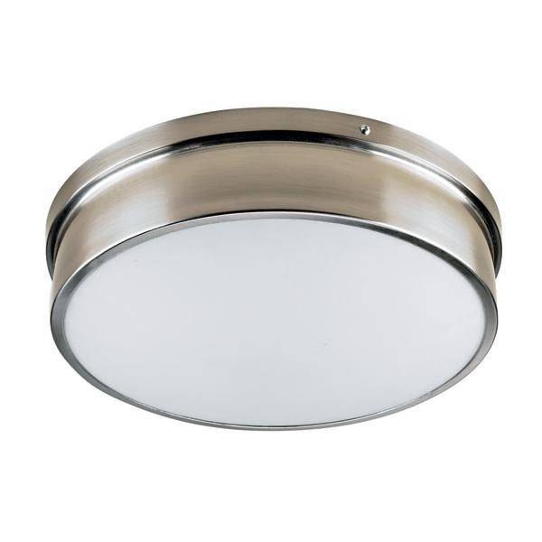 2014 New Ceiling mount 12inch Opal Frosted Glass Satin Nickel Clip