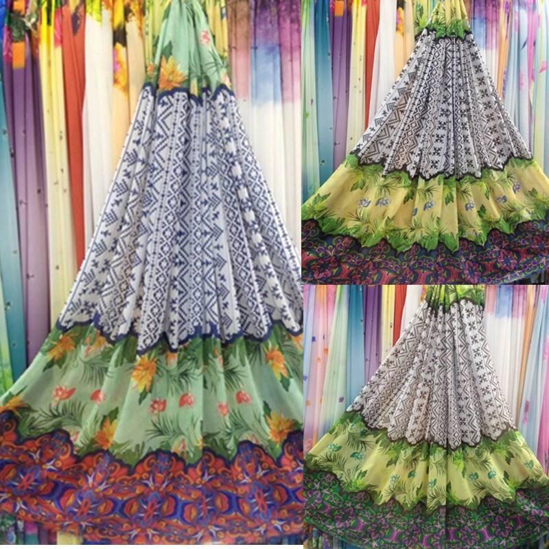 Impervious impervious thin chiffon fabric printed chiffon shirt skirt dress flower meow