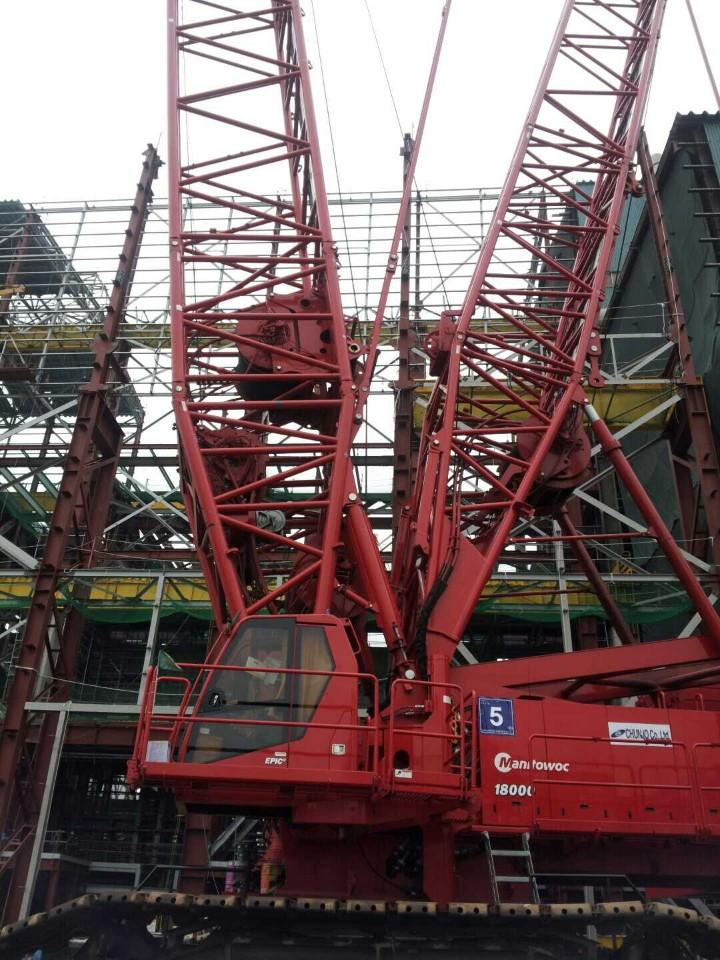M18000 manitowc 750 ton crawler crane.2012year