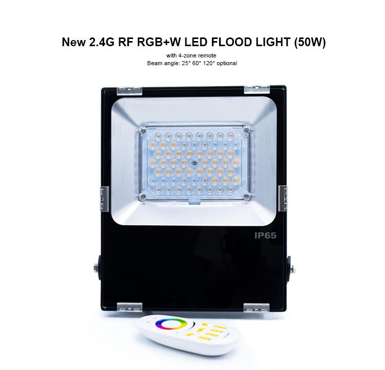 rgbw flood light 50w rgb led floodlight dimmable led flood light portable led flood light fixture mi