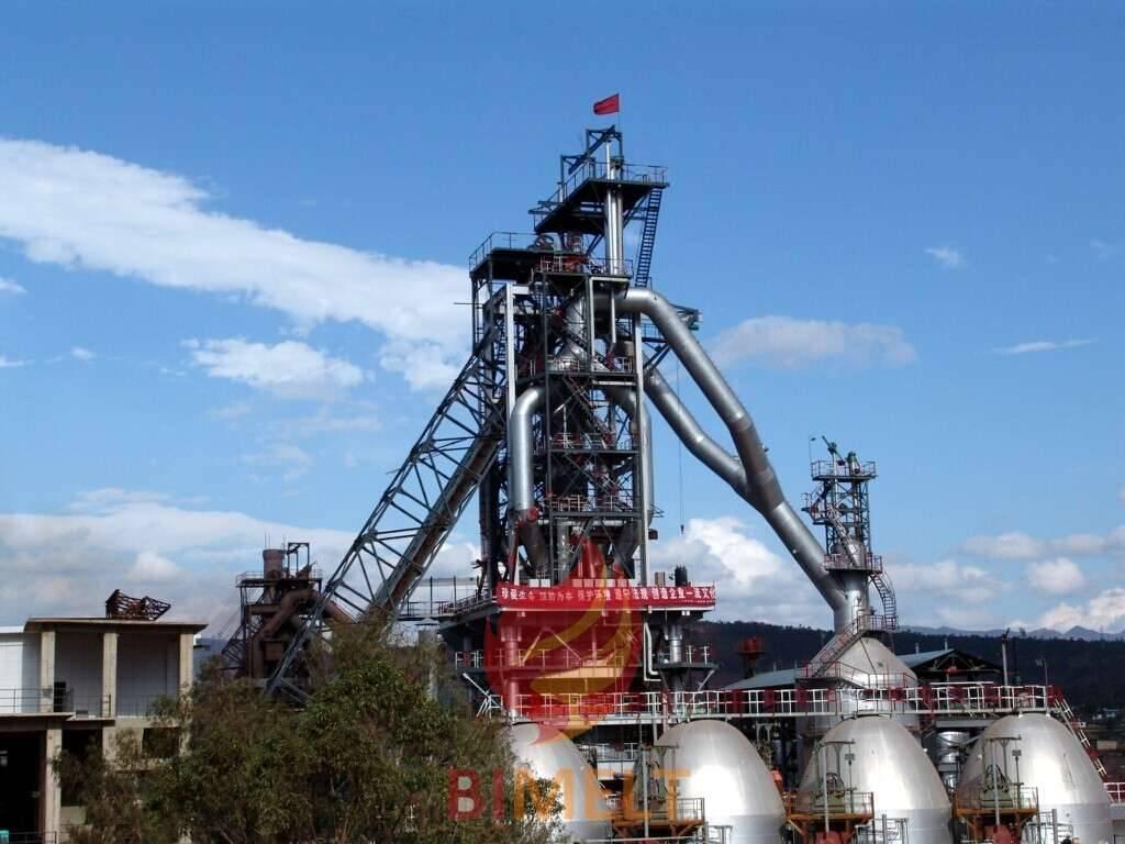 Iron making blast furnace