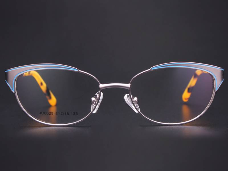 Fashion design flexible super light weight stainless steel metal optical frame ready in stock JC6625