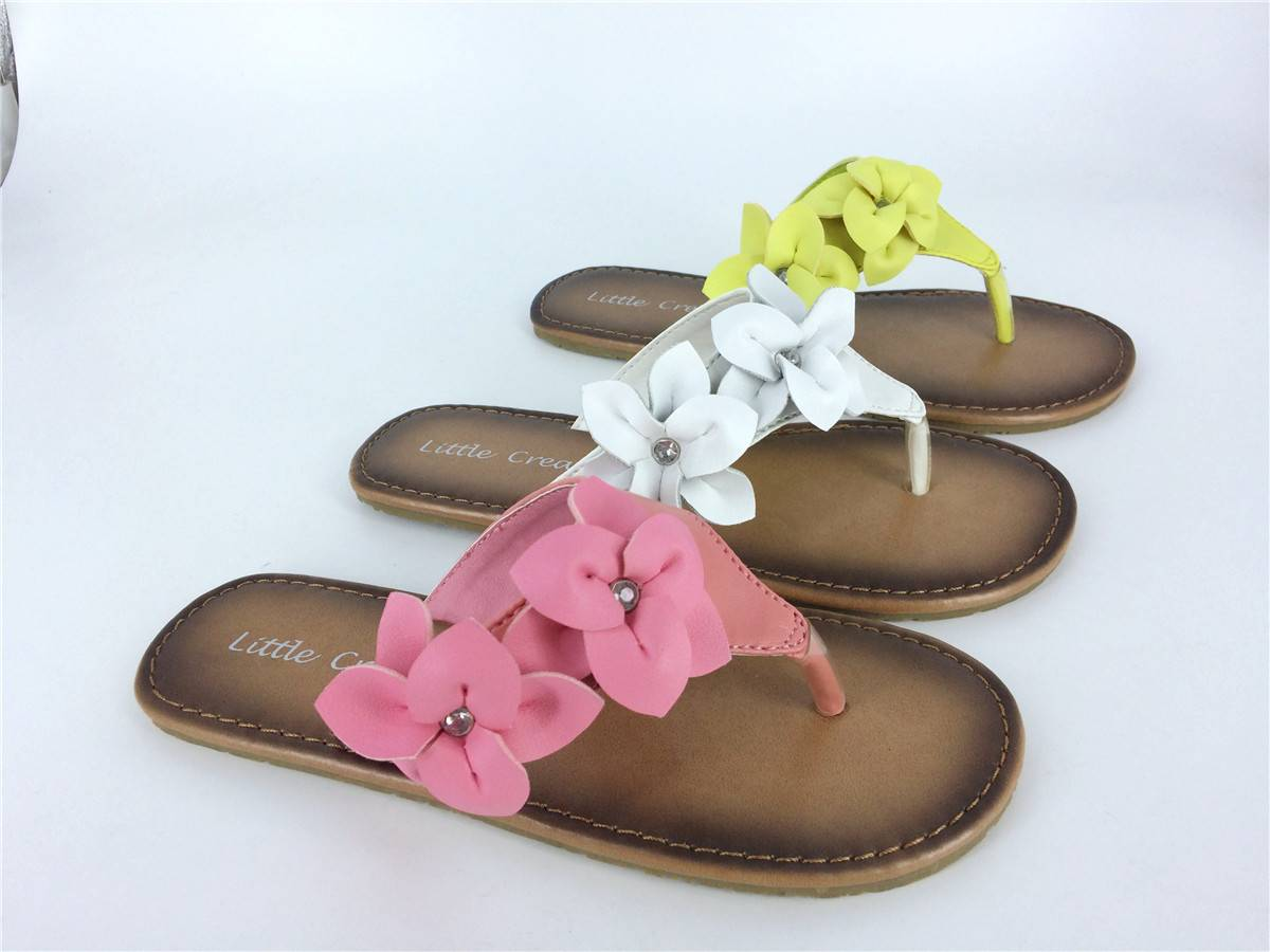 Children's Flower Flat Sandals Flip Flop