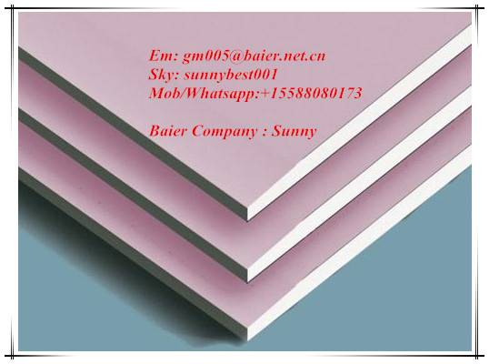 CE AND ISO Approved Fireproof  Plasterboard